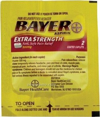 Bayer Aspirin Packet