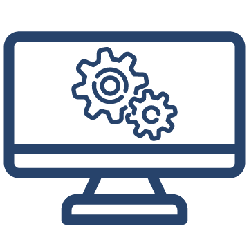 gears on computer icon